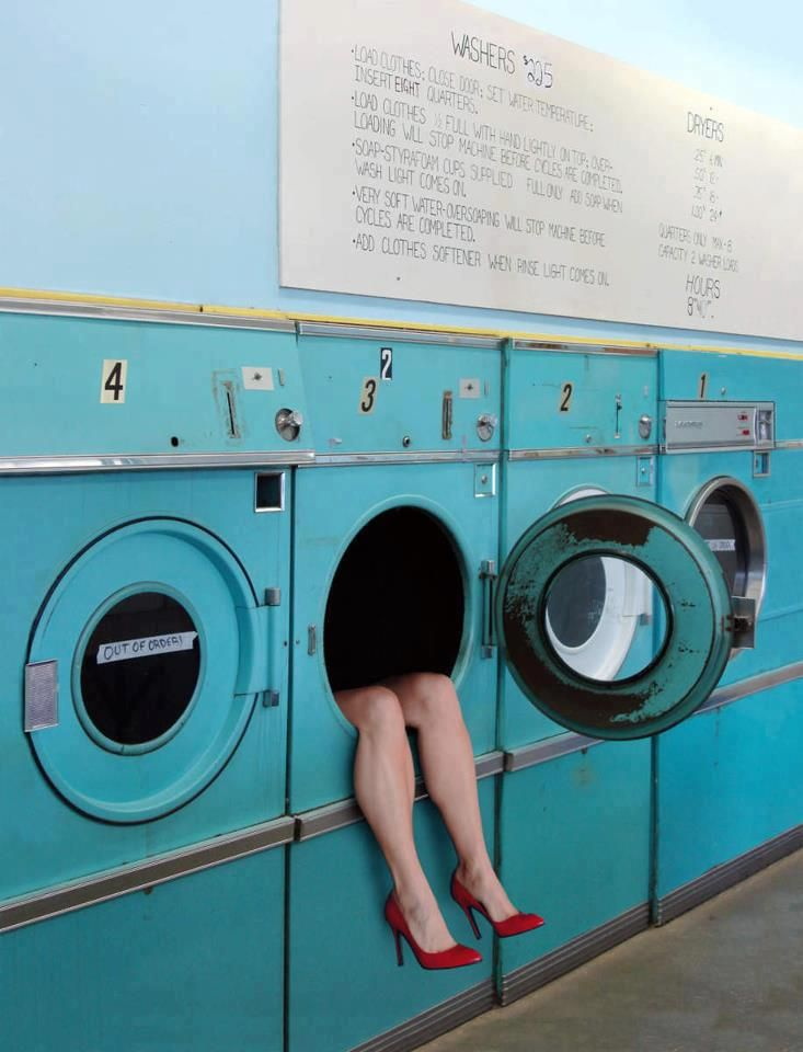This would be awesome in the laundry room. Sometimes you just feel like putting on heels and hiding in the dryer for awhile.