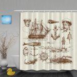Natical Shower Curtains - nautical shower curtain