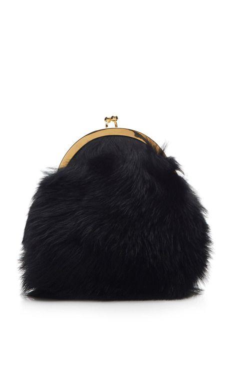 Small Shearling Shoulder Bag by Simone Rocha Now Available on Moda Operandi