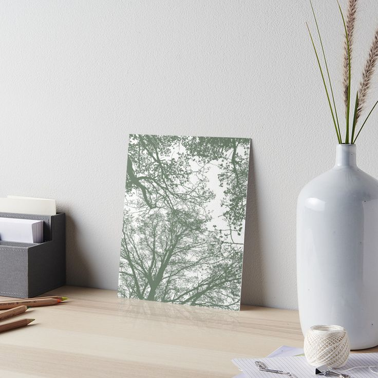Abstract Trees Art Board by ARTbyJWP from Society6 #artboard #arprints #buyart #walldeco #abstract #greenandwhite #minimal ---     Silhouettes of trees on white background. • Also buy this artwork on home decor, apparel, stickers, and more.