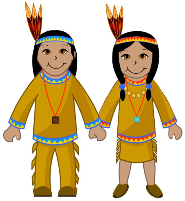 Kids Of Diverse Races: American Indian Boy and Girl