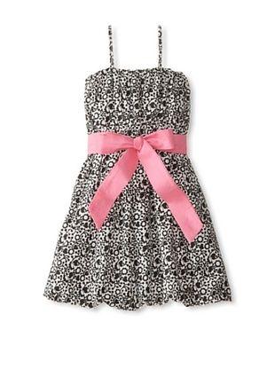 61% OFF Sophie Catalou Atelier Girl's Damask Dress (Black/Watermelon Bubblegum Sash)