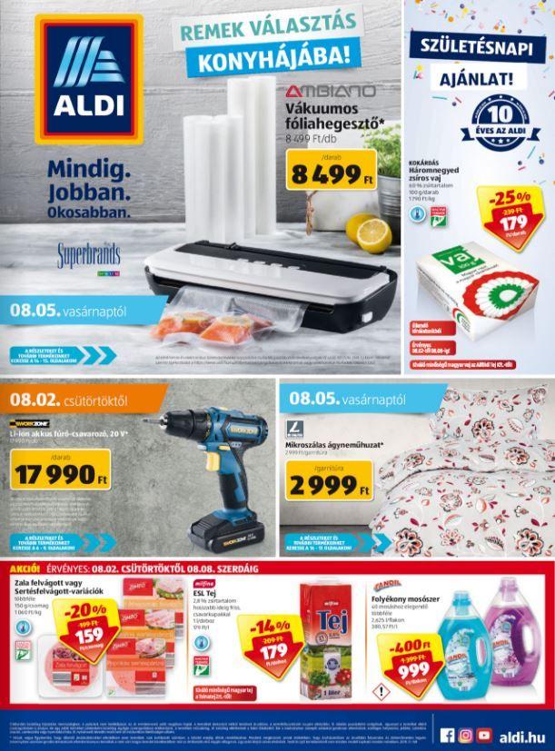 ALDI Akciós Újság 2018. 08.02-08.08-ig  Vákuumos fóliahegesztő 76c8bd1e10
