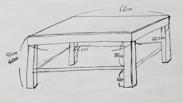 Small Table Sketch 8