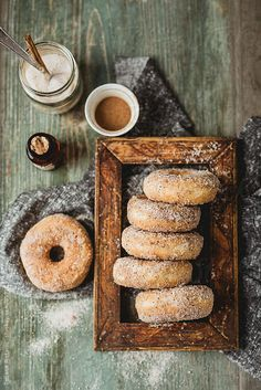 Donuts with cinnamon and sugar