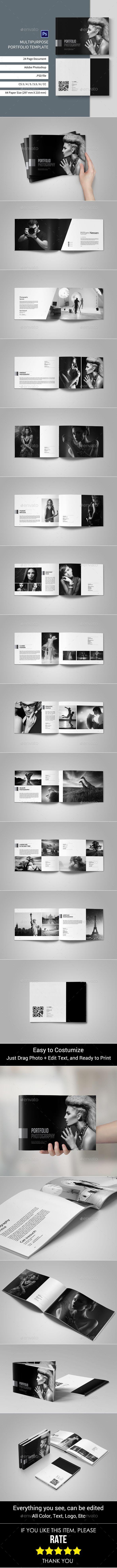 Portfolio Photographer Album Template PSD