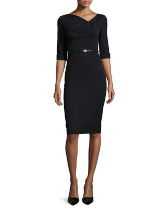 Jackie 3/4-Sleeve Sheath Dress by Black Halo at Neiman Marcus.