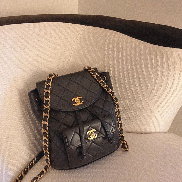 Cass Dimicco Chanel Backpack Vintage Chanel Chanel Backpack Bag Accessories Black Leather Backpack