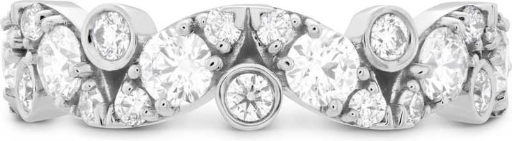 Hearts on Fire  Wedding Ring in 18k White Gold | 1WHOF0114