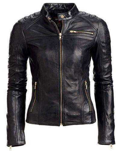 Women Black  Leather Jacket Coat Soft Motorcycle Womens Size XS S M  L XL WJ147