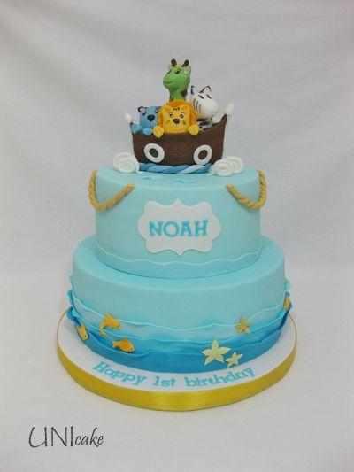 C218. Nooan Arkki kakku. Noah Ark cake