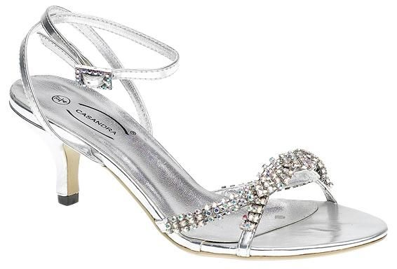 wedding short heels for bride | silver wedding shoes low heel