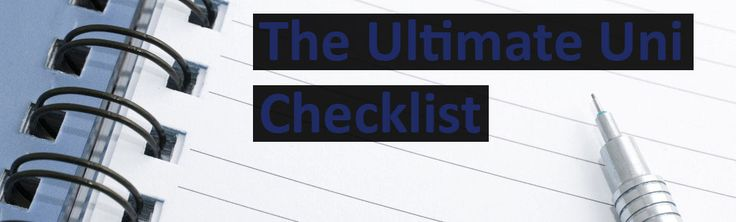 """The ultimate uni checklist! If you are wondering """"What do I need bring with me to uni?"""" then this is for you!"""