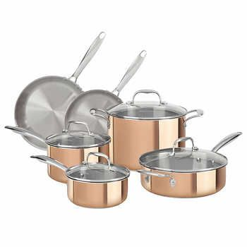 KitchenAid 10-pc. Copper Tri-ply Cookware Set