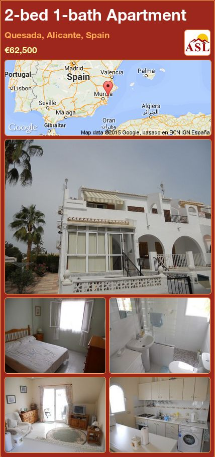 2-bed 1-bath Apartment in Quesada, Alicante, Spain ►€62,500 #PropertyForSaleInSpain
