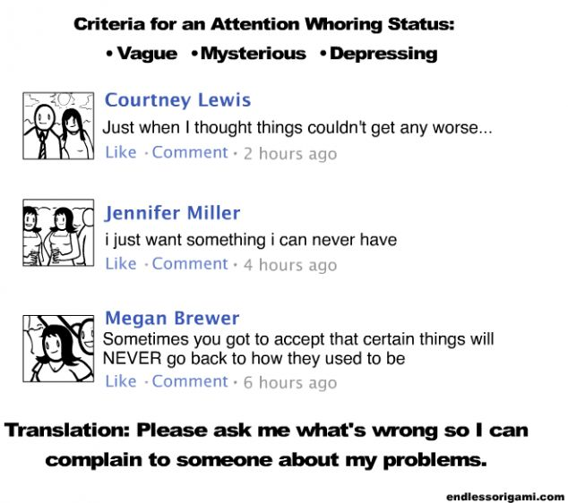 Translating your friends' confusing, sad Facebook statuses...