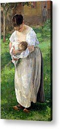 The Wet Nurse Painting by Alfred Roll - The Wet Nurse Fine Art Prints and Posters for Sale