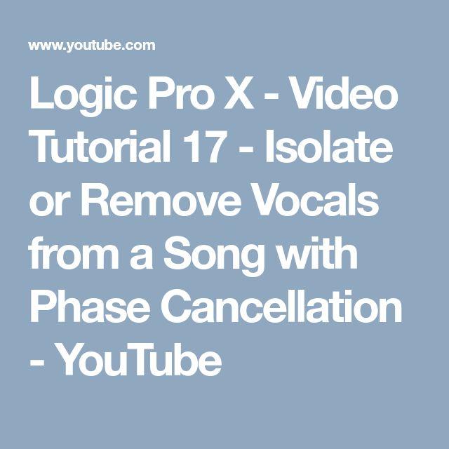 Isolate Vocals