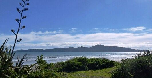 Kapiti Island taken from Raumati Beach, NZ.