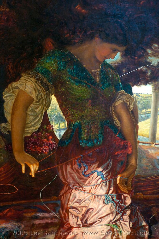 William Holman Hunt, the lady of Shallot. You really have to see this painting.