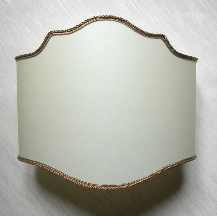 Wall Light Half Lampshade in Beige Parchment Wall Lamp
