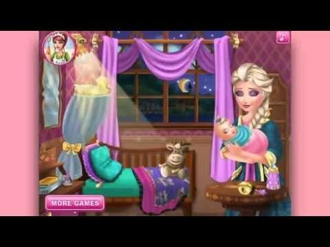 Frozen Disney Elsa Frozen Elsa baby feeding videos games for kids - YouTube