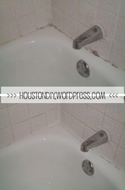 Handy household tips: use toilet cleaner on shower caulking!
