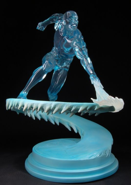Iceman Clear statue  Sculpted by: Mark Newman    Release Date: November 2007  Edition Size: 300  Order Of Release: Phase III (statue #97)    Notes: Bowen Designs Website Exclusive    Marvelicious Toys - The Marvel Universe Toy & Collectibles Podcast