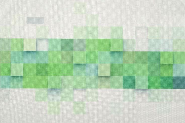 Bílo zelené podložky na stůl ve tvaru obdélníku