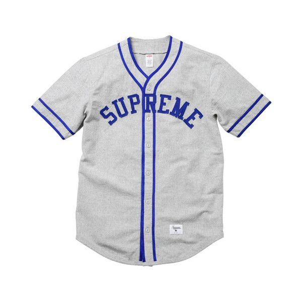 [WTB] Supreme Baseball Jersey SS10 ❤ liked on Polyvore featuring tops, shirts, jersey, clothes., baseball jerseys, jersey top, baseball jersey shirts, shirt tops and jersey shirt