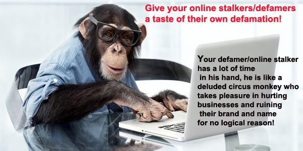 We give your online stalker and defamer a taste of their own defamation and given them a good lesson! Explore who should use this service here http://www.maria-johnsen.com/onlinereputationmanagement-ORM/