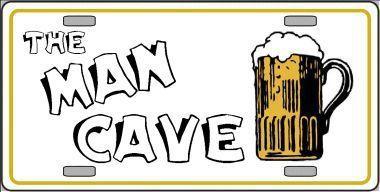 Man Cave Metal Novelty License Plate