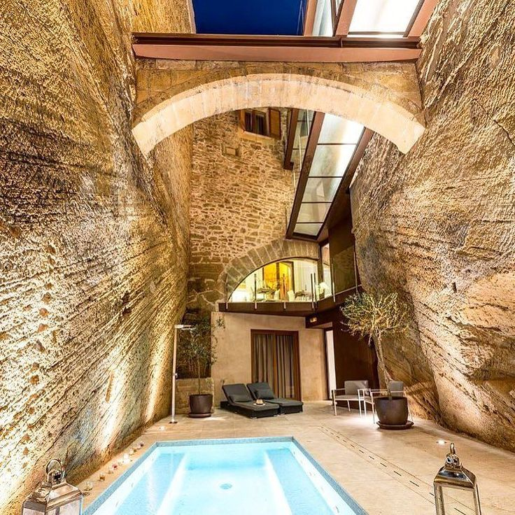 Historic hideaway: Hotel Can Mostatxins is built into a 15th-century olive-oil presser #HotelCanMostatxins #Mallorca #Spain