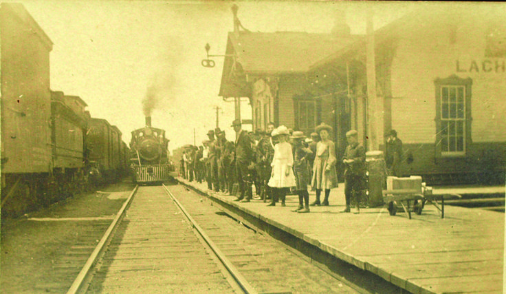 The train station when trains used to stop in Lachute!