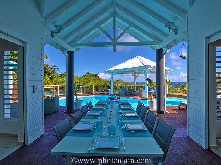 Location vacances villa Sainte-Anne: terrasse couverte