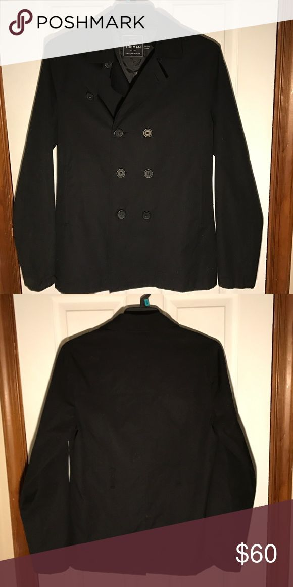 NWT Topman Jacket Never worn! This topman jacket is that simple black jacket that's the staple of everyone's wardrobe. New with tags, however selling without the belt but you'd never notice cause those two belt loops are only on the back and barely noticeable—it looks so much better without it! Topman Jackets & Coats