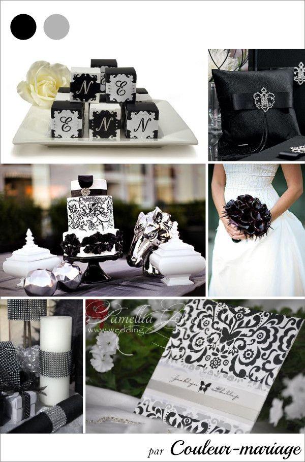 blanc et noir wedding  Mariage en noir et argent - Couleur mariage