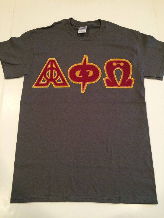 custom greek letter shirt harry potter alpha phi omega