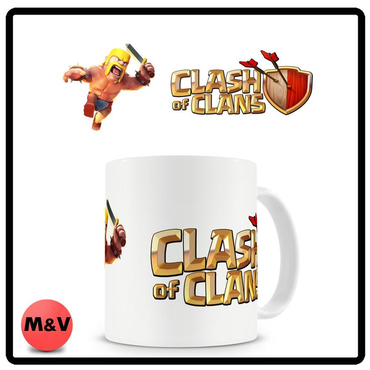 Clash of clans mug, Barbarian, game, funny, pc, mobile game
