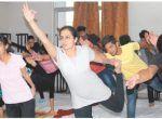 Indore: Meditation, yoga workshop held at Prestige Institute
