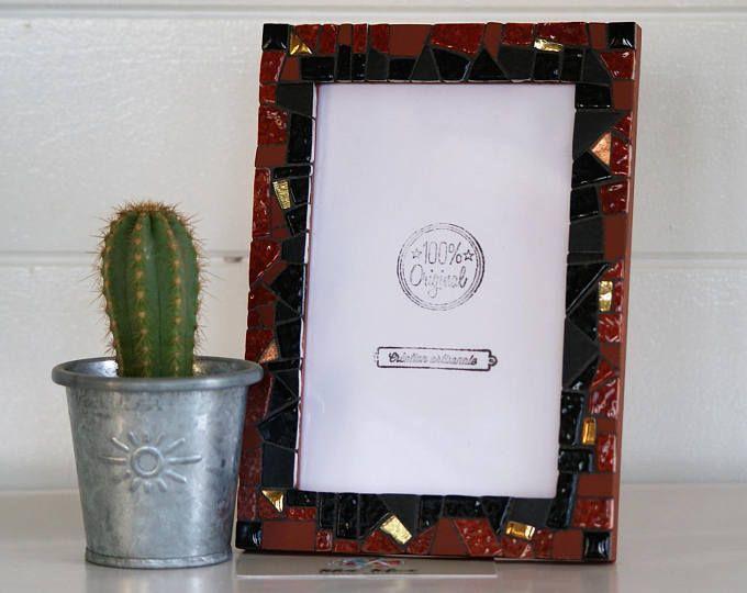 """Cadre photo """"Copper Heat / Chaleur cuivrée"""" en mosaïque"""