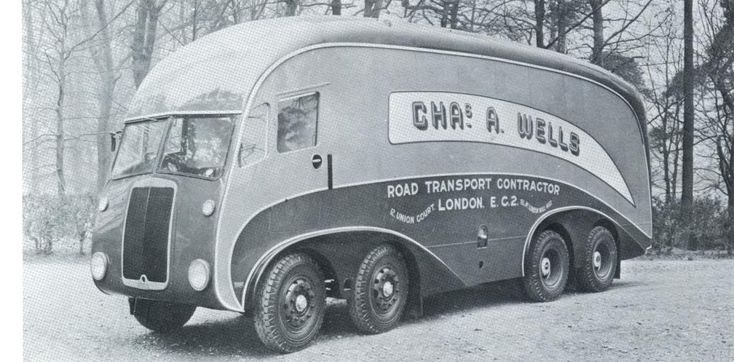 LEYLAND OCTOPUS TEW15T ZEPPELIN AERODYNAMIC,LEYLAND VAN-BODIED,8x2 LORRY.1938.Chas.A.Wells Road Transport Contractor,London