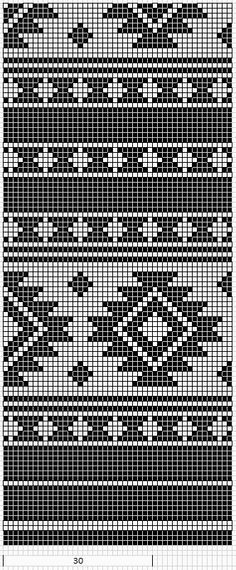 Native American Geometric Design Pattern Chart for Cross Stitch tapestry crochet