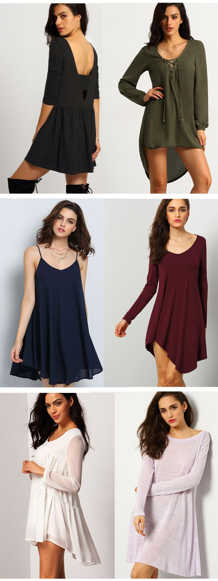 Black dress goals - Find The Perfect Tshirt Dress At Romwe Com With Daily Update Romwe