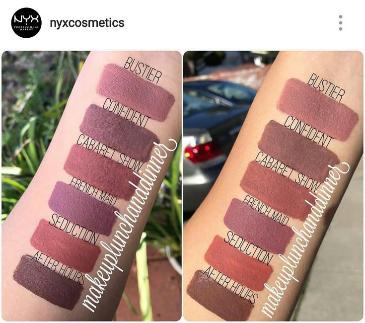 6 of 12 New NYX lip lingerie shades swatched @makeuplunchanddinner