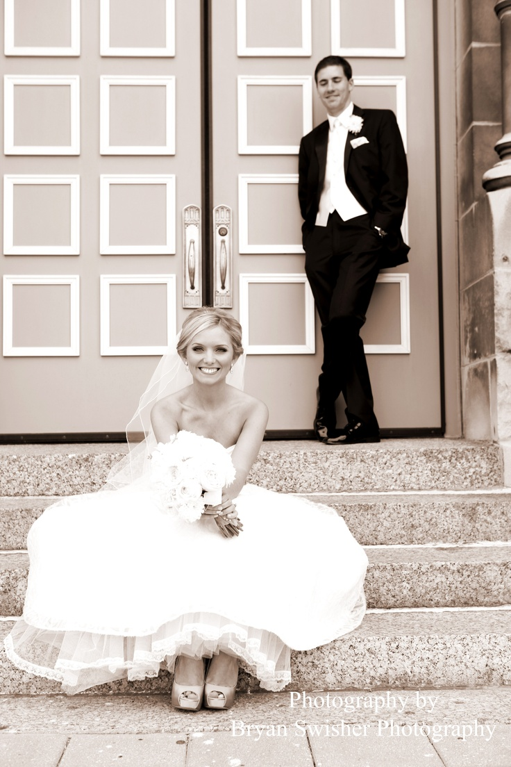 Wedding Picture at St. Alphonsus Church in Chicago.