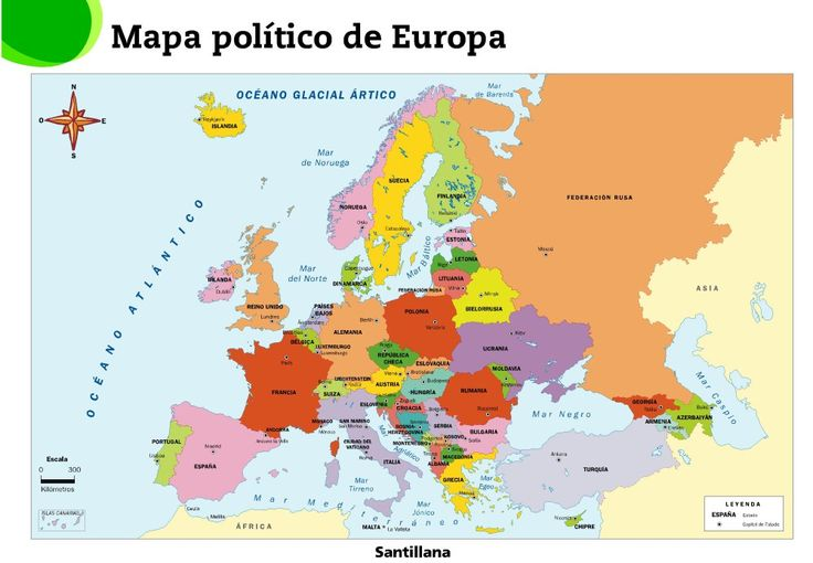 MAPA POLÍTICO DE EUROPA.  RECURSOS PARA 6º PRIMARIA