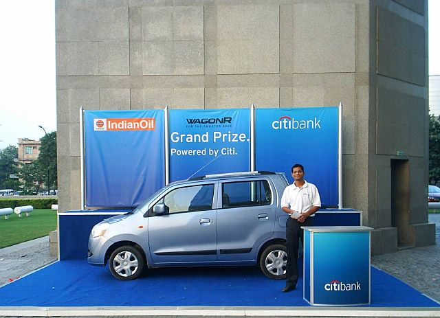 Outdoor display for Citibank