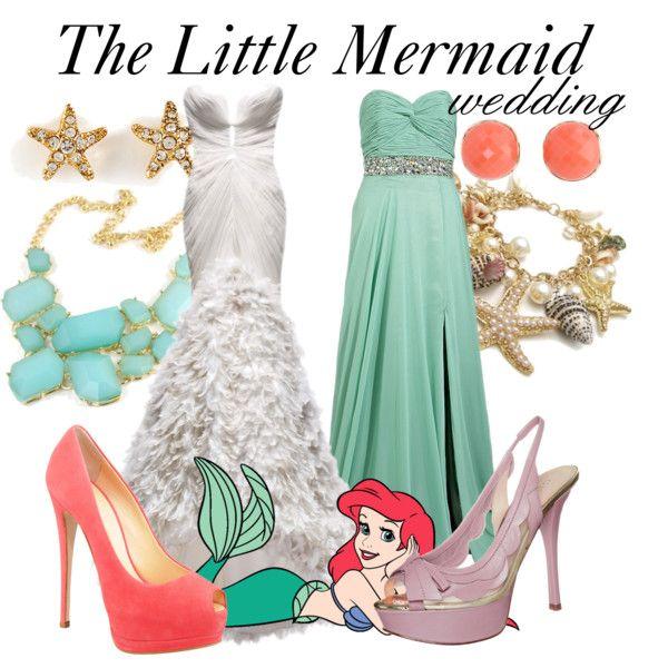 Mermaid Wedding Dresses Polyvore : Best little mermaid wedding ideas on