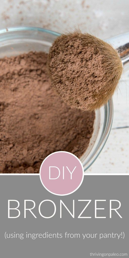 DIY Bronzer - an easy homemade non-toxic makeup that you can make using ingredients from your pantry